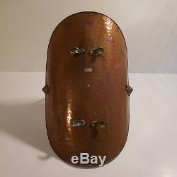 Basket Buche Accessory Fireplace Copper Faience Vintage Art Deco XX France N4104