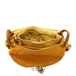 Bayside Shoulder Bag With Vintage Leather Lamb Made In Italy Art. Bs 607