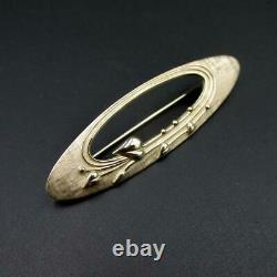 Beautiful Vintage Scottish Brooch Ola Gorie Art Nouveau Inspiration 9 Carat Gold