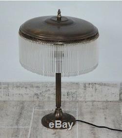 Bedside Lamp Office Glass Pampilles Art Deco Vintage Color Brass Copper