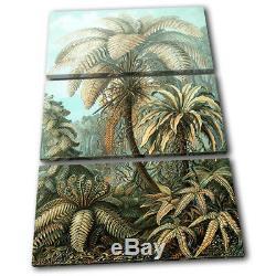 Botanical Tropical Vintage Floral Treble Canvas Wall Art Photo Print
