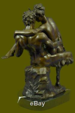 Bronze Austrian Erotic Satyr Demon Devil Sculpture Figurine Vintage Art