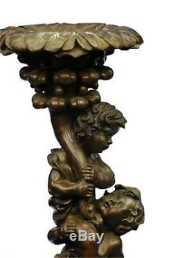 Bronze Statue Art Nouveau Style Vintage Two Playful Puti Cherub Lrg