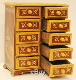 Cabinet Wood Hand Painted Home Decor Art Vintage Collection Of India Us7