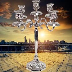Candelabra Chandelier 5 Arm Art Nouveau Art Deco Vintage Silver Colors