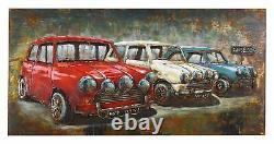 Car Square Vintage Mini 3d Equipment Decoration Iron Plate Vintage Art Decor