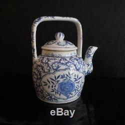 Ceramic Teapot Chinese Porcelain Art Nouveau Deco Vintage France Pn N3102