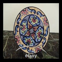 Ceramics Earthenware Spain Flat Handmade Vintage Art Nouveau Deco Pn France N39