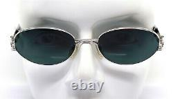 Chagall By Visibilia Men's Sunglasses Women's Silver Oval Black Vintage 90s