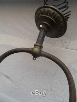Chandelier Pendant Lamp Lamp Vintage Gas Art Nouveau Napoleon Griffon Chimeres