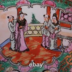China 1930 Vintage Art Nouveau Handmade Flat Plate N7025