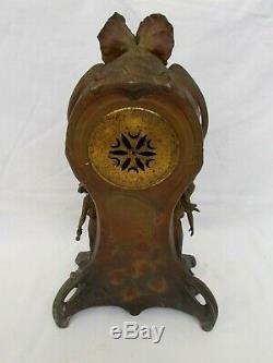 Clock Clock Cartel Art Nouveau A French Oudet Antique Regule Clock Vintage