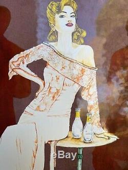 Convex Advertising Plate Glazed Schweppes Premium Rare Art Deco Vintage