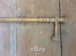 Curtain Rod With Grommets Antique Brass Vintage Deco Art Nouveau 1920