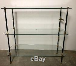 Display Stand / Vintage Glass And Brass Shop Shelf