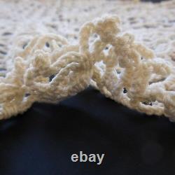 Doily Handmade In Cotton Crochet Vintage Art New Lorraine France