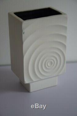 Earthenware Ceramic Vase Vintage 70s Psychedelic Pop Art Graff