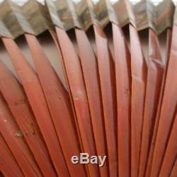 Fan Wood Paper Decor Ornate Vintage Art Nouveau Deco Pn France N2290