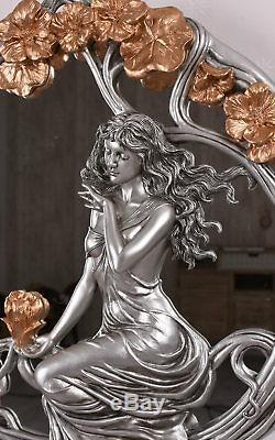 Female Figure Art Nouveau Art Nouveau Mirror Mirror Wall Vintage Antique