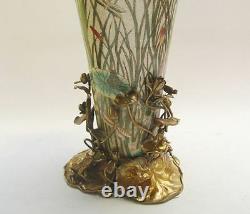 Flowers Vase Luxe Style Art Nouveau Porcelaine Bronze Vintage Aesthetic Noble