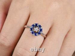 Former Art Deco Vintage Pierre Precious Engagement Silver Ring