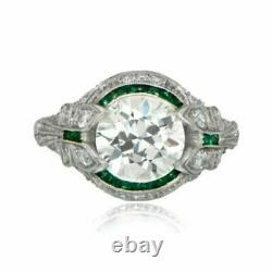 Former Edouardien Vintage Art Deco Engagement Ring 925 Silver Ring