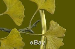 French Vintage Bronze & Marble Love Birds Statue Figurine Art Deco Limited