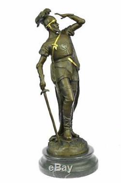 Grand French Reproduction Vintage Tour Roman Soldier Bronze Gift Art Decor