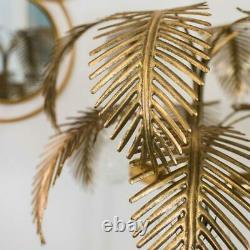 Grand Golden Palmier Sol Lamp Art Deco Glamour Jungle Safari Vintage Décor