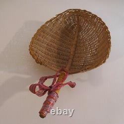 Hand-made Patina Sheet Empty-pooche Vintage Art Deco Basket Kitchen N3917