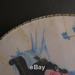 Handmade Silk Fan Japan Vintage Art Nouveau Deco Design XX France Pn N3002