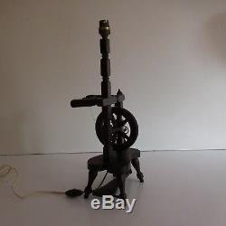 Handmade Wheel Lamp Vintage Lighting Art Nouveau Deco Design France Pn N2974