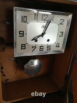 Horloge Carillon Mural F. F. R Morbier Vintage Art Nouveau 1962 France