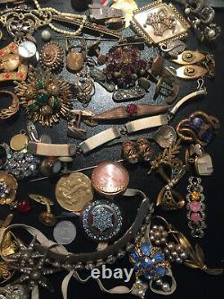 Job Rare Big Lot Jewelry Old Vintage French Antique Jewellery Watch