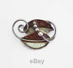 La Paglia Designed International Sterling Silver Art Nouveau Floral Vintage Brooch