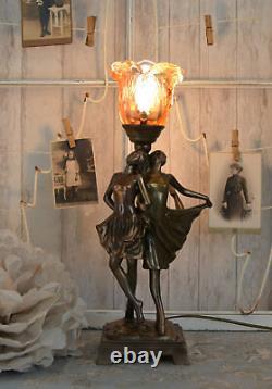 Lamp Art Deco Dancer Table Lamp Vintage Chevet Lamp