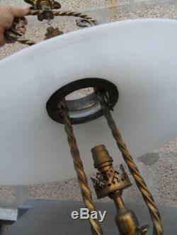 Lamp Suspension Chandelier Lamp Vintage Art Gas New Napoleon Decor Heads