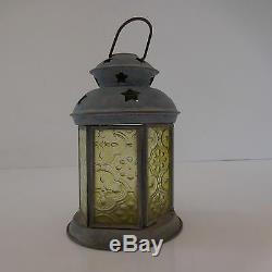 Lantern + Zinc Metal Planter Twentieth Vintage Art Deco Art Nouveau