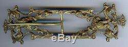 Large Beautiful Vintage Art Nouveau Ornate Brass Eagle Belt Buckle