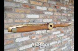 Large Wooden Propeller Mural Reproduction Vintage Plane Propeller Nails