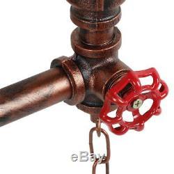 Led Diy Vintage Art Industrial Design 2 Shade Chandelier Suspension Lamp