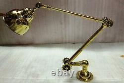 Long Arm Vintage Style Industrial Rustic Wall Brass Dimmable Stretchable Light