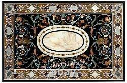 Marble Grass Table Top Elegant Pattern Inlay Pierre Vintage Art Dinner