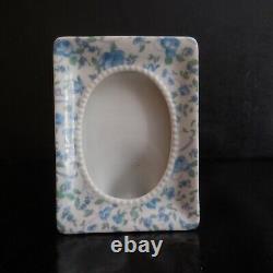 Miniature Frame Porcelain Ceramic Medallion Vintage Art Nouveau Japan N3955