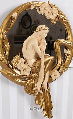 Mirror Art Nouveau Style Vintage Decoration