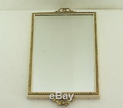 Mirror Mirror In Art Nouveau Frame Metal Brass Mirror Vintage Knot