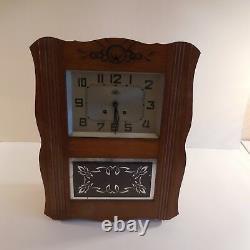 Morbier Vintage Art Nouveau 1920 1940 France N2054 Wall Chime Clock