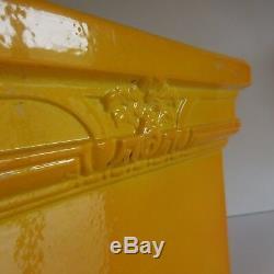 N2211 Pot Ceramic Terracotta Glazed Earthenware Vintage Art Nouveau Deco Twentieth Pn
