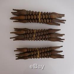 N2749 24 Bars Moldings Wooden Pins Nineteenth Vintage Art Deco Pn France