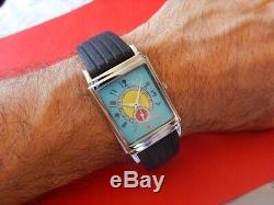 New Rectangle Watch Turquoise Dial Small Second Hand Type Art Deco